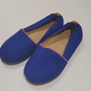 TKEES Senny Flats, Blue Nobuck Flats, Girls